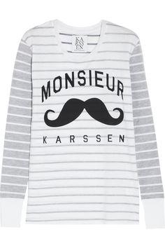 Zoe Karssen Monsieur Karssen cotton-blend jersey top NET-A-PORTER.COM