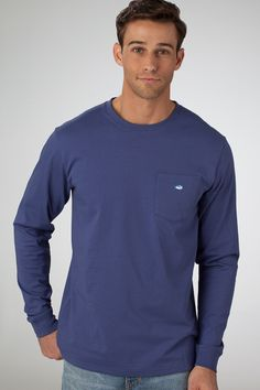 Embroidered Pocket - Skipper Blue