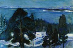 Edvard Munch, Winter Night, 1900-1901
