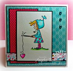 Card I made using Ramona Fishing from Stamping Bella