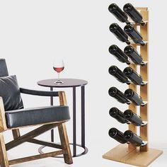 Zia Gaia the wodden bottles holder by #ZiediMilano #madeinitaly #milano #wine #bottle #sofa #table #madeinitaly #wood #holder #vinorosso #winebar #winetasting #winery