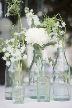 table decorations. Wild flowers in vintage vases or mason jars would nice. For fall wild ajuga