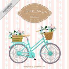 Fundo listrado da bicicleta do vintage Vetor grátis