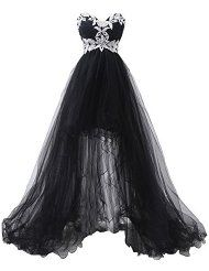 Women's Tulle with Appliques Beadings Hi-Lo Cocktail Dresses $53.69