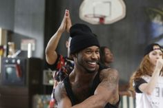 Dance Choreographer Dave Scott having fun teaching the dancers the routine for High Strung Movie.