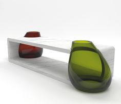 emmanuel babled fuses glass and marble with osmosi line