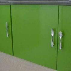 Door handles made of spoons and forks | My Interior Design ...