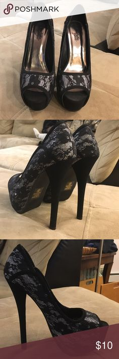 Charlotte Russe heels Never been worn. About 5 inches tall Charlotte Russe Shoes Heels
