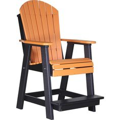 Balcony polywood Chair. Extremely easy to get in and out of, Adirondack Styling for enhanced comfort. Sturdy built-in footrest. FREE SHIPPING.