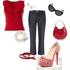 Red Gingham, created by princessage.polyvore.com
