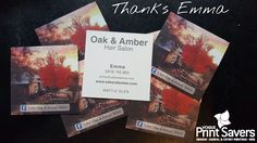 Thanks to the amazingly talented Emma at Oak & Amber Salon for allowing us to print your business requirements #printing #marketing #thankyou http://ift.tt/2bl5ja0