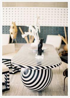 kelly wearstler | striped marble table