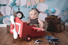 Planes Birthday, 1st Boy Birthday, Cute Babies Photography, Children Photography, Cute Kids Pics, Baby Poses, Baby Swings, Baby Month By Month, Newborn Photos