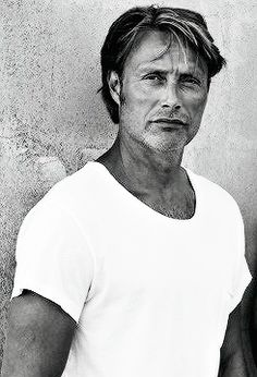 "sympathyforthecannibal: "" Mads + T-Shirts images from Mads Mikkelsen Source "" Mads Mikkelsen, Hannibal Anthony Hopkins, Grace Beauty, Hugh Dancy, Star Wars, Most Beautiful Man, To My Future Husband, Belle Photo, Actors & Actresses"