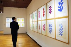 - The Musée départemental Matisse devotes an exhibition to the exceptional donation by the Matisse family of a group of 443 paper cut-outs not used in Henri Matisse's finished works - Matisse Prints, Matisse Cutouts, Matisse Art, Exhibition Display, Museum Exhibition, Picasso Blue, Cut Out Art, Museum Architecture, Cut Out Shapes
