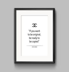 coco chanel print coco chanel poster coco by OrangeKiteLabs Chanel Poster, Chanel Print, Coco Chanel Quotes, Typography Prints, Printable Wall Art, Printables, Etsy, Print Templates
