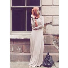 Mink Essentials Abaya + Tan Maxi Jersey Hijab - Comfortable and practical, with a loose fitting making it perfect for everyday wear www.inayahcollection.com