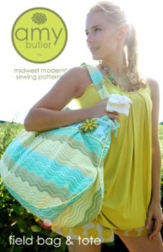 Beach Bag Sewing Pattern Free | Amy Butler Sewing Pattern Field Bag and Tote with Free US Shipping