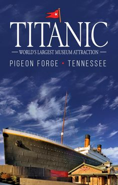 Titanic Museum Attraction in Pigeon Forge. Step back in time to the legacy of The Titanic. Welcome aboard this imaginative Pigeon Forge museum attraction. Gatlinburg Vacation, Gatlinburg Tennessee, Tennessee Vacation, Alaska Travel, Travel Usa, Alaska Cruise, Mountain Vacations, Dream Vacations, Pigeon Forge Attractions