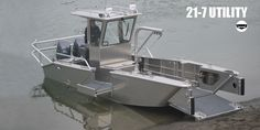 Munson Boats 21-7 Utility: Alt- Close Cockpit for AC and Heater Add Titanium Frame, Safety Tether Points, Hammock Mount Points, Expanded Solar Canopy, Marine Goal Zero Solar Generator, WaterProof Storage Locker, Bi-Directional Frame Mounted Winch, Marine Radio. Spot Light and Mount . Running Lights, Cooling Fans, Seat Back, Swap Engines to Dual 600HP.