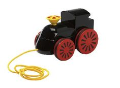 Brio Pull Along Engine BRI-30304 This classic little pull along engine from BRIO was designed with a spinning chimney and a special pinwheel shape on the wheels. This toy helps to encourage early walking in toddlers and has a bright  http://www.MightGet.com/january-2017-12/brio-pull-along-engine-bri-30304.asp