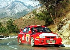 Mitsubishi Lancer Evo VI driven by Tommi Mäkinen and Risto Mannisenmäki to win the 2000 and 2001 Monte Carlo Rallies. Monte Carlo Rally, Monaco Grand Prix, Mitsubishi Lancer Evolution, Car Set, Car Travel, Rally Car, Jdm Cars, French Riviera, Automobile