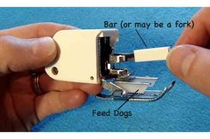 What is a Walking Foot and How to Attach it to Your Sewing Machine - Sewing Tips for Beginners ~ Use this great tip on your next project with fabric from the Fabric Shack at http://www.fabricshack.com/cgi-bin/Store/store.cgi