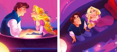 """mickeyandcompany: """"Disney Storybooks [??/12]: """"Long ago and far away, there lived a beautiful young woman named Rapunzel."""" (Art from Tangled: A Dazzling Day, by Brittney Lee) """""""