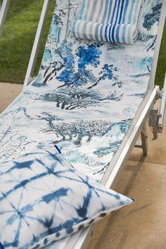 Designers Guild Jade Temple outdoor fabric Designers Guild, Floor Lanterns, Moda Floral, Scatter Cushions, Outdoor Fabric, Outdoor Entertaining, Garden Inspiration, Color Pop, Summertime
