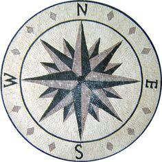 MD130 compass star mosaic