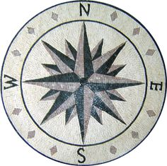 MD130 compass star mosaic