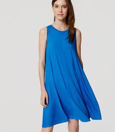 Image of Sleeveless Swing Dress color Vivid Cobalt