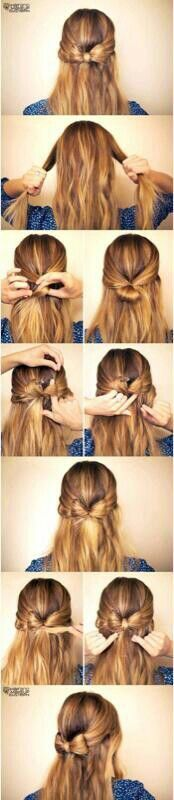 Step by step process to make a hair bow