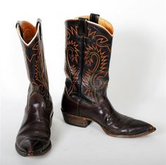 Old Cowboy Boots   Mens Vintage Cowboy Boots vintage cowboy boots - cowboy boots lucky ...