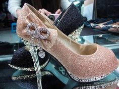 Wholesale Waterproof Shoes - Buy Product-A Importer Fish Head Gold Diamond Bow Heels Waterproof Shoes, Dress Shoes Wedding, $30.68 | DHgate
