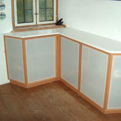 sideboard in # buche mit # acrylglas kombiniert more l s sideboards