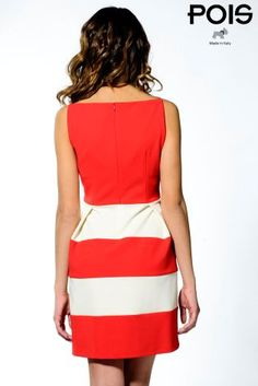 Buy Pois Striped Stretch Crepe Dress from the Next UK online shop