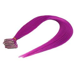 SEEKO Colored Clip Hair Extensions Hiar Pieces Punk Rock Style Beauty Salon Supply MZP265T Palevioletred #BeautySalonSupplies