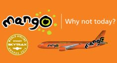Mango Airlines Flight Tickets & Specials from Book Mango flight specials from Durban, Johannesburg, Cape Town, PE. Online Flight Booking, Airline Booking, Airline Tickets, Best Flights, Flights Online, Mango Airlines, Domestic Airlines, Domestic Flights, Airline Flights