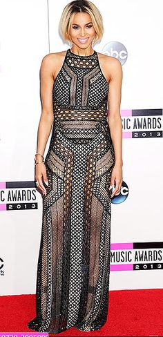 Ciara looked gorgeous and edgy in this J. Mendel dress at the AMA's 2013