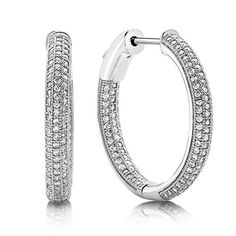 Sterling silver bonded with platinum inside out pave earrings and simulated diamonds by swarovski. Diamond Hoop Earrings, Sterling Silver Earrings Studs, Diamond Studs, Diamond Jewelry, Stud Earrings, Man Made Diamonds, Round Diamonds, Custom Earrings, Fashion Earrings