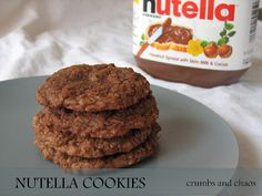 Nutella Cookies.  made these for Mother's Day, they taste like chocolate more than Nutella, but they were still good!