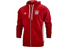 adidas FC Bayern Full Zip Hoodie. Buy it today from SoccerPro.