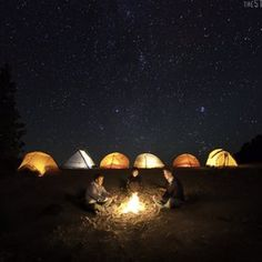 To finish the day, a camping area will be cool to share with friends and family. Just a whole day of pure fun :-)