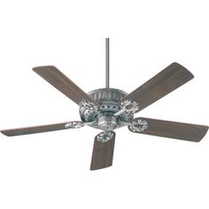 Quorum - 35525-92 sales at Keidel. Traditional None Ceiling Fans in a decorative Antique Silver finish