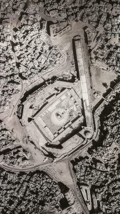 Aerial view of Masjide Haram 1965 Mecca Madinah, Mecca Masjid, Mecca Islam, Islamic Images, Islamic Pictures, Islamic Art, Mecca Wallpaper, Islamic Wallpaper, Islamic Architecture