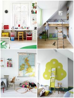 Especially fond of the loft bed on top right.