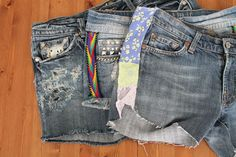 Today's style DIY takes on the summertime classic: denim cutoffs.