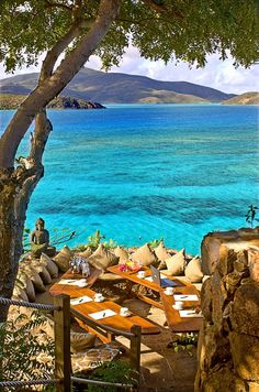 Love this table!  Necker Island, British Virgin Islands