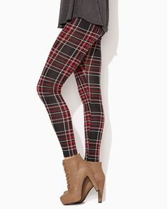 charming charlie | Plaid Punker Leggings | UPC: 410006913707 #charmingcharlie $9.99